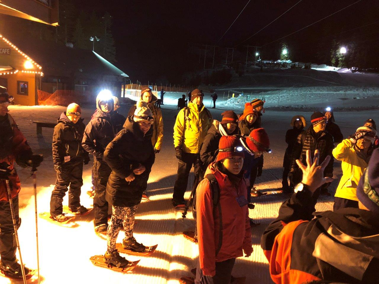 MoveUP members snowshoeing - March 2018