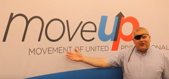David Black with MoveUP logo