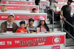 MoveUP family enjoying Vancouver Canadians baseball game