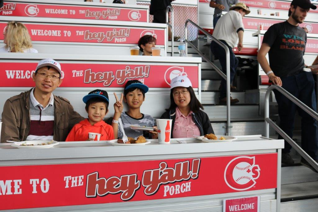 MoveUP family enjoying Vancouver Canadians baseball game
