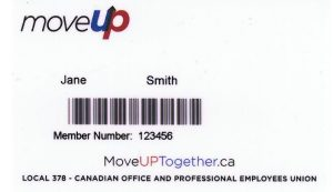 MoveUP member card sample