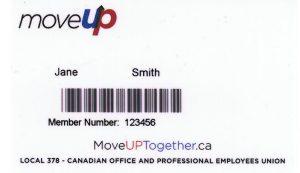 MoveUP member card sample