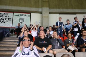 Cheering on the Whitecaps