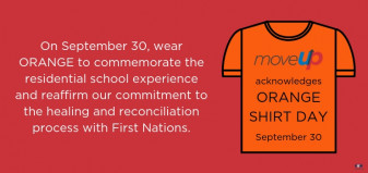 MoveUP acknowledges Orange Shirt day