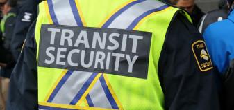 Back of a transit security vest